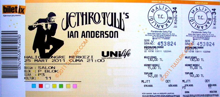 IAN Istanbul  Ticket 2011